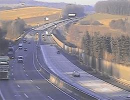 A01 West Autobahn: Bei Anschlussstelle St.Christophen, Blickrichtung St. Pölten – Km 40,50 webcam Live