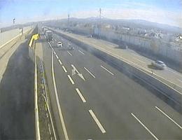 A01 West Autobahn: Bei Anschlussstelle St.Pölten Süd, Blickrichtung Wien – Km 58,80 webcam Live