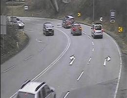 A14 Rheintal/Walgau Autobahn bei City Tunnel Nordportal (Km 1,86) Blickrichtung Bregenz webcam Live