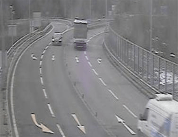 A14 Rheintal/Walgau Autobahn bei City Tunnel Südportal (Km 0,46) Blickrichtung Bregenz webcam Live