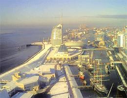Bremerhaven – Blick vom Richtfunkturm webcam Live