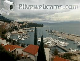 Panoramablick von Baška Voda webcam Live