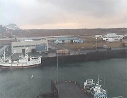 Ingjaldshóll: Rif – Hafenblick,Snæfellsnes webcam Live