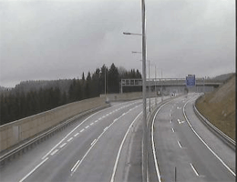 S10 Mühlviertler Schnellstraße: Bei Anschlussstelle Grünbach Sandl, Blickrichtung Linz – Km 20,28 webcam Live