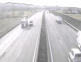 A01 West Autobahn: Bei Anschlussstelle Ybbs-Wieselburg, Blickrichtung Linz – Km 104,50 webcam Live