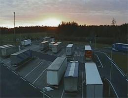 A01 West Autobahn: Bei Rastplatz Allhaming, Blickrichtung LKW Stellplatz – Km 182,50 webcam Live