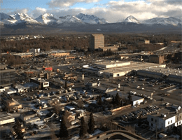 Anchorage: Midtown – Blick nach Südost webcam Live