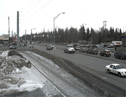 Anchorage: Midtown – Seward Highway Blick richtung Norden webcam Live