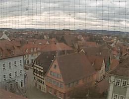 Bad Windsheim – Blick vom Rathaus webcam Live