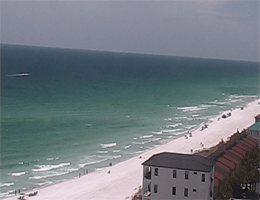 Destin – Blick über Strand vom Dach webcam Live
