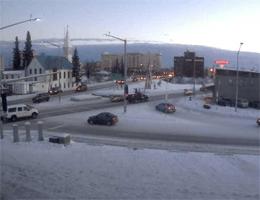 Fairbanks – ArcticCam,Überblickt den Chena River und der Innenstadt von Fairbanks webcam Live