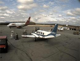 Flughafen McGrath – Blick auf den Lade- und Abladebereich webcam Live