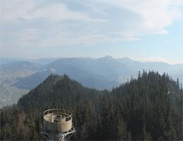 Hohenbogen – Blick in RichtungOsser und Arber (rechts) webcam Live