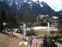 Inzell – Blick über Inzell vom Hotel Chiemgauer Hof webcam Live