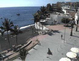 La Palma – Puerto Naos Strandpromenade Nordwest webcam Live