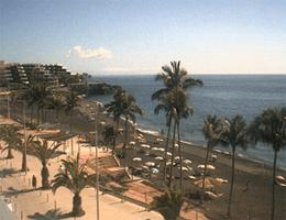 La Palma – Puerto Naos Strandpromenade Südwest webcam Live