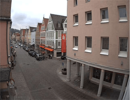 Mindelheim – Blick vom Oberen Tor auf den Maximilianstraße webcam Live
