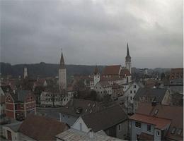 Mindelheim – Feuerwehrturm mit Blick zur Altstadt webcam Live