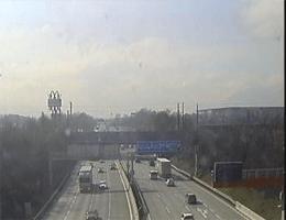 A01 West Autobahn: Anschlussstelle Salzburg Mitte, Blickrichtung Walserberg – Km 292,00 webcam Live