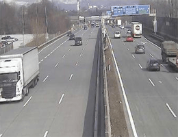 A01 West Autobahn: Bei Anschlussstelle Kleßheim, Blickrichtung Wien – Km 293,38 webcam Live