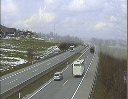 A01 West Autobahn: Bei Anschlussstelle Wallersee, Blickrichtung Salzburg – Km 280,00 webcam Live