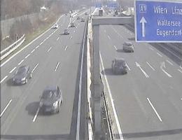 A01 West Autobahn: Bei Maria Plain, Blickrichtung Wien – Km 289,17 webcam Live