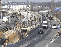A02 Süd Autobahn: Bei Anschlussstelle Altmannsdorf, Blickrichtung Wien – Km 102 webcam Live,