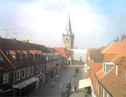 Ahaus – Fußgängerzone, Blickrichtung Rathaus webcam Live