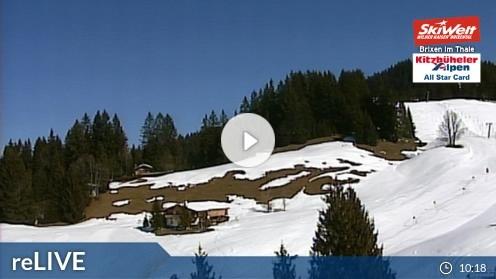 Brixen im Thale – Bergstation Gondelbahn webcam Live