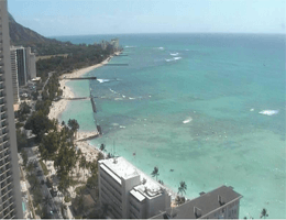 Honolulu – Küstenpanorama vom Sheraton Princess Kaiulani webcam Live