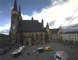 Köthen (Anhalt) – Marktplatz, Rathaus und Jakobskirche webcam Live