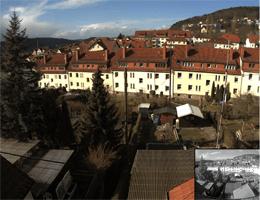 Meiningen – Blick Richtung Schloss Landsberg webcam Live