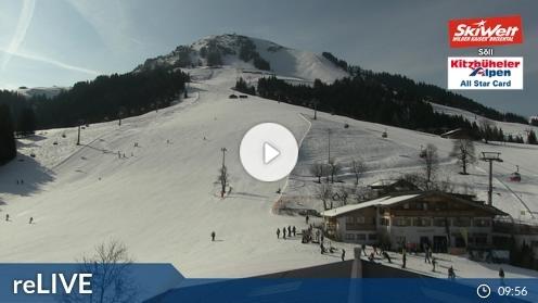 Söll – Bergstation Gondelbahn Hochsöll webcam Live