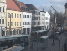 Straubing – Blick auf den Ludwigsplatz von Straubinger Tagblatts webcam Live