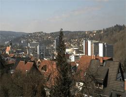 Suhl – Blick auf die Zentrum und Lautenberg webcam Live
