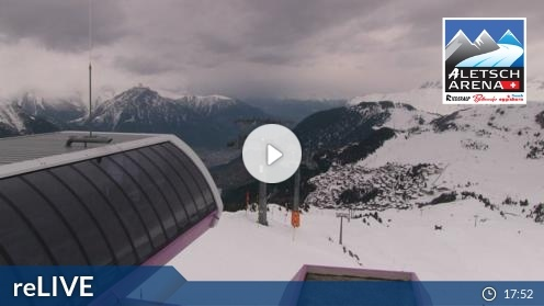 Bettmeralp – Bergstation Wurzenbord webcam Live