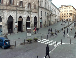 Perugia – Piazza Matteotti, Alte Universität Webcam Live