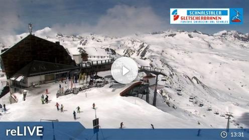 Schnals – Bergstation Gletscherbahn Webcam Live