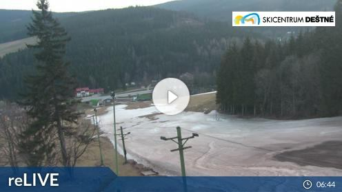 Skicentrum Deštné V Orlických Horách – Panorama webcam Live
