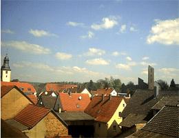 Aglasterhausen – Rathaus und Kirchenblick Webcam Live