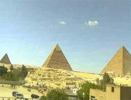 Gizeh – Pyramiden von Gizeh und die Sphinx Webcam Live