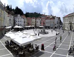 Piran – Tartini-Platz (Tartinijev trg) Webcam Live