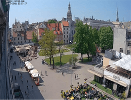 Riga – Livu square Webcam Live