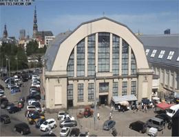 Riga – Zentralmarkt Riga Webcam Live