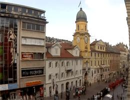 Rijeka – Stadtturm und Promenade Webcam Live