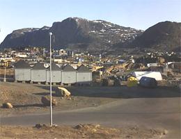Sisimiut – Blick über Sisimiut Webcam Live