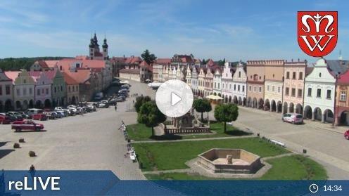 Telč – Náměstí Zachariáše z Hradce Webcam Live