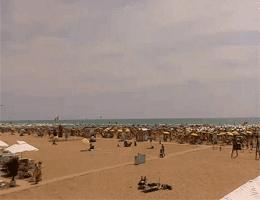 "Bibione – Strand nach ""Chiosco Luna"" Webcam Live"