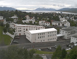 Akureyri – Blick über die Stadt Webcam Live