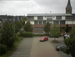 Alpen – Rathaus und Kirche St. Ulrich Webcam Live